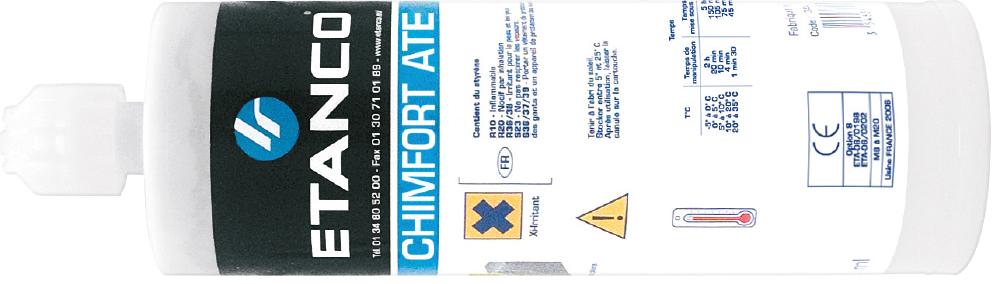 pluggen voor chemische afdichting, chimfort ATE